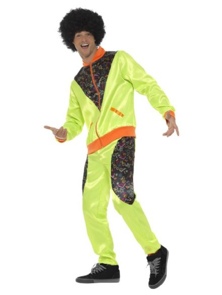 Green Retro Shell Suit Costume